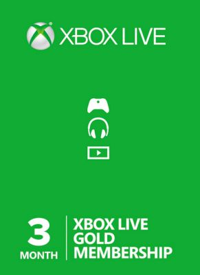 Obal hry Xbox Live GOLD 3 mesiace EU