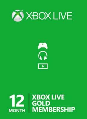 Obal hry Xbox Live GOLD 12 mesiacov EU