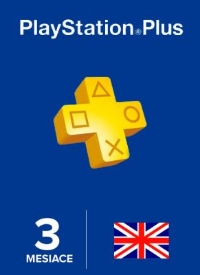 Obal hry Playstation Plus členstvo na 90 dní UK