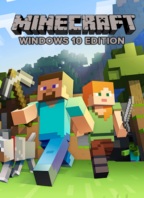 Obal hry Minecraft Windows 10 Edition