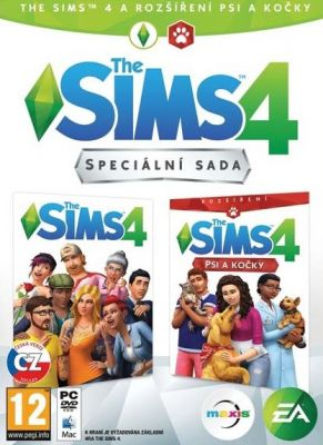 Obal hry The Sims 4 + The Sims 4 Psy a Mačky