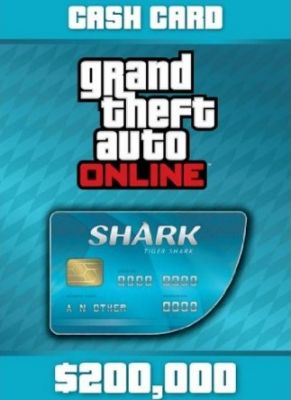 Obal hry GTA 5 Online Tiger Shark Cash Card 200,000$
