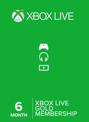 Obal hry Xbox Live GOLD 6 mesiacov EU