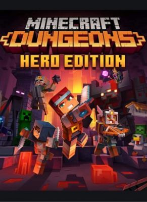 Obal hry Minecraft Dungeons Hero Edition